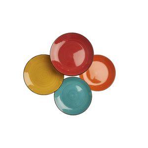 Conjunto-4-Pratos-Coloridos-de-Sobremesa-20-cm-em-Ceramica-PRAV007