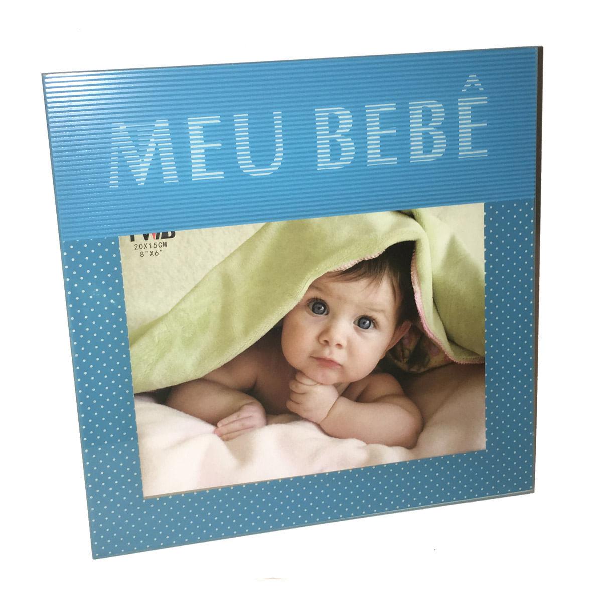 Porta Retrato Em Vidro 3D Meu Bebê Azul 20 x 15 cm 98239