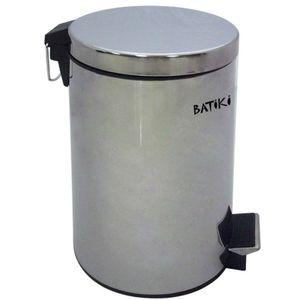 Lixeira-em-Aco-Inox-Polido-12-Litros-com-Pedal-Batiki-W180-LB-604L