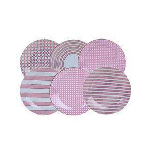 Jogo-Com-6-Pratos-de-Sobremesa-Em-Porcelana-Rosa-COLE008