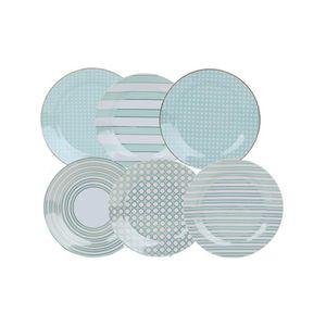 Jogo-Com-6-Pratos-de-Sobremesa-Em-Porcelana-Azul-COLE004