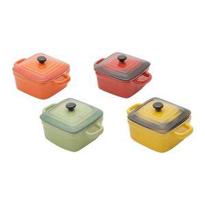 Conjunto-de-4-Mini-Panelas-Quadradas-de-Ceramica-Coloridas-Com-Tampa-12-CM-30395