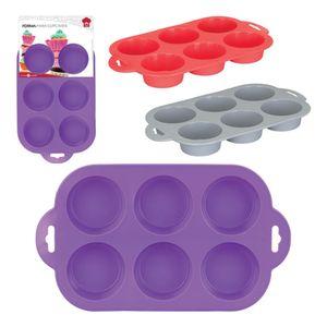Forma-Para-6-Cupcakes-Em-Silicone