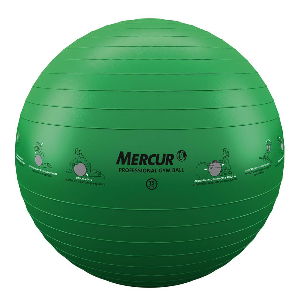 99342493b Bola Professional Gym Ball 75cm Bc0141-75 Mercur - Saudestore
