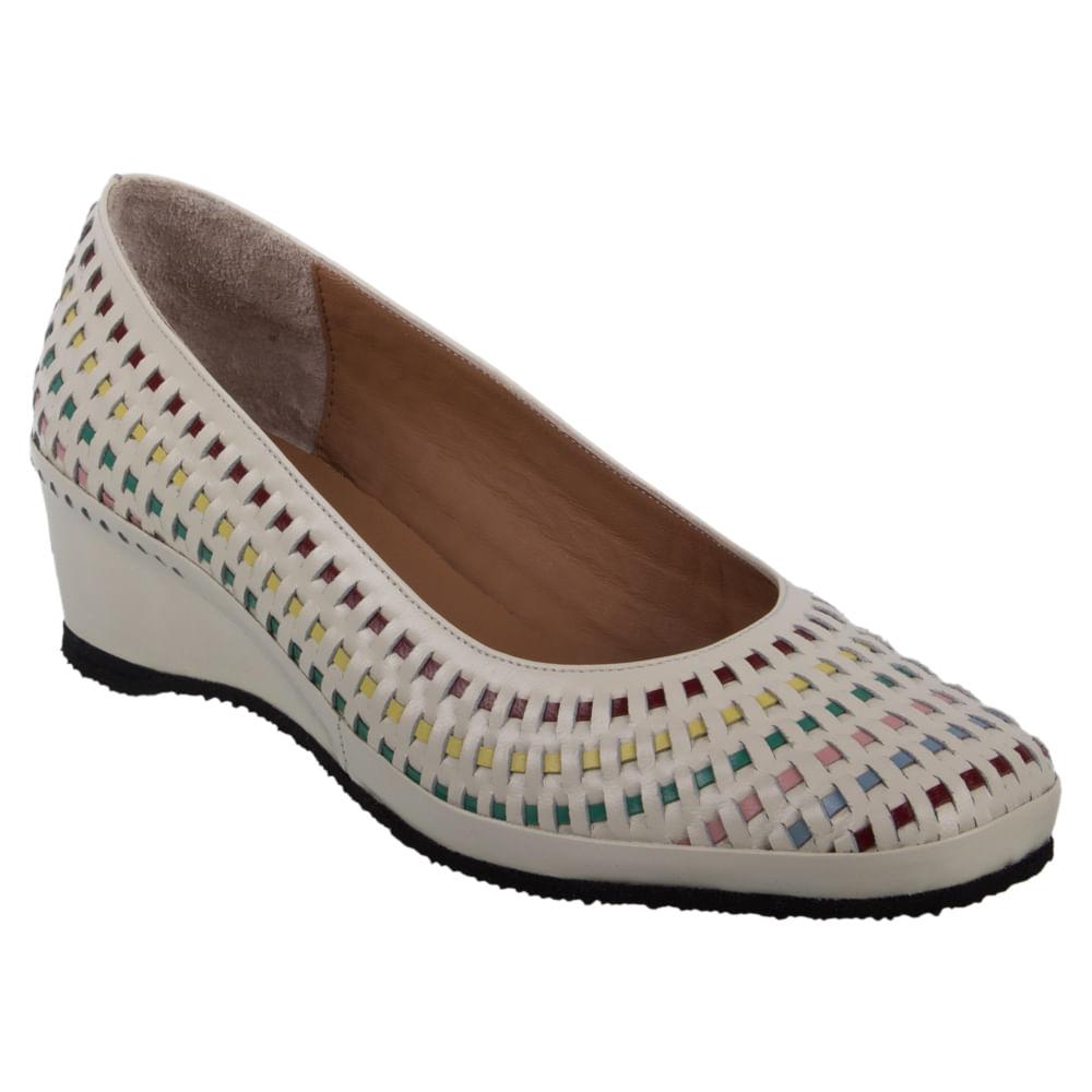 25cd2420d Sapato Feminino Marinucci R11 Tresse Off White/Iris - Boacoisa