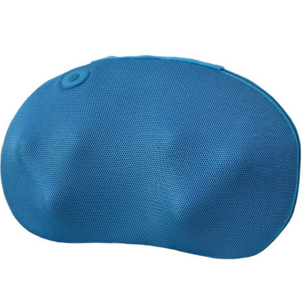 Encosto Massageador Shiatsu c  Aquecimento Color Pillow Azul RM ... e88e3e1c72