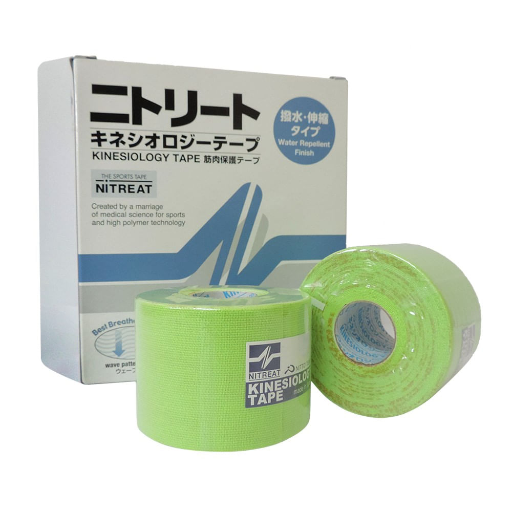 Bandagem Kinesio Tape Adesiva 5 cm x 5 m Kinesiology Verde Importada ... 9d357f7619dda