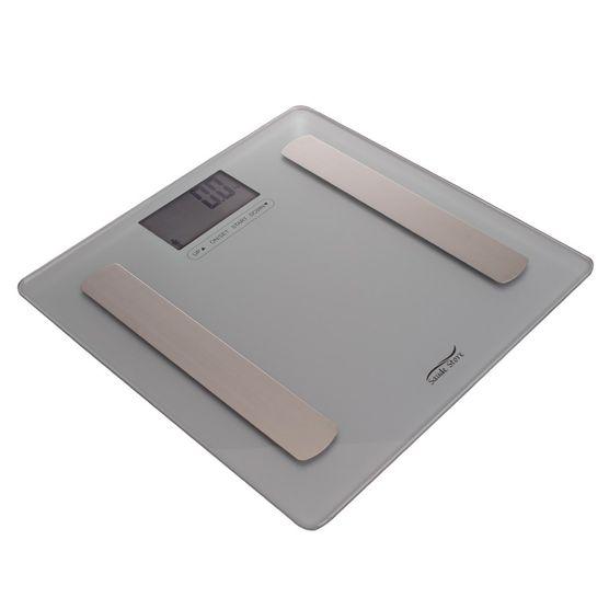 Balanca-digital-de-vidro-temperado-monitor-de-gordura-medidor-IMC-Mirage-prata-ss-044-saude-store-1