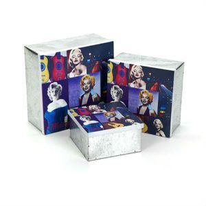Conjunto-de-Caixas-em-Metal-com-3-Pecas-Marilyn-Monroe-AZ-Design
