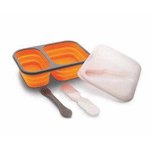 Marmita-de-Silicone-Retratil-Com-Duas-Divisorias-Capacidade-1L-SLC305-002-laranja
