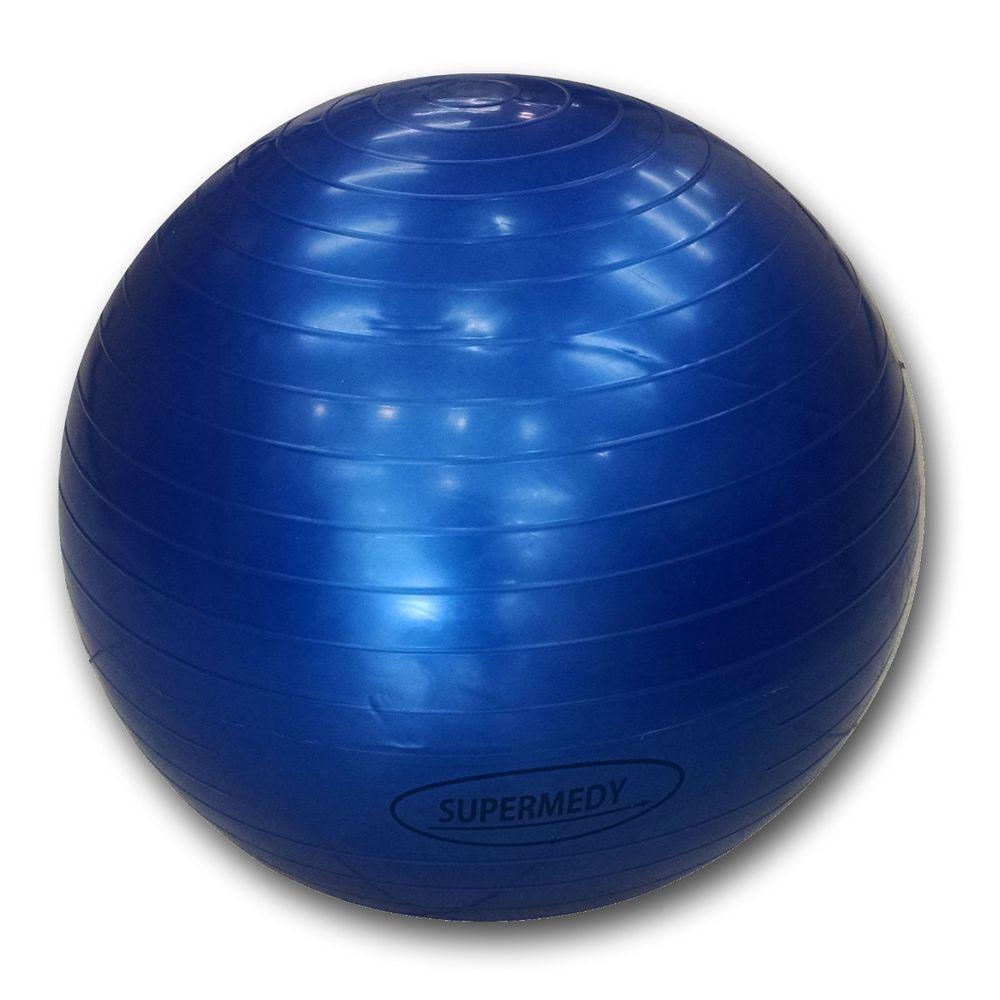 Bola para Pilates 65 cm Azul c  Bomba Supermedy - Boacoisa 899b488694b5c