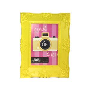 Porta-Retrato-Retro-De-Plastico-Amarelo-10-x-15-cm-92511