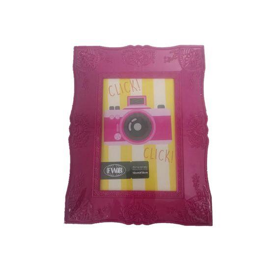 Porta-Retrato-Retro-De-Plastico-Rosa-10-x-15-cm-92511