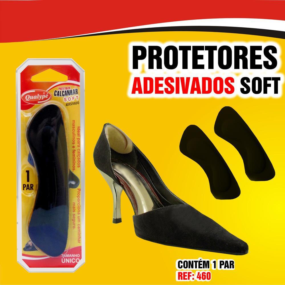 055492f50d5c Protetor de Calcanhar unissex Soft com Adesivo Preto - Saudestore