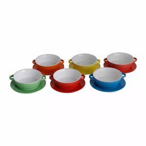 Jogo-6-Bowls-e-6-pratos-De-Porcelana-Coloridos-Mary-413-ML-1136