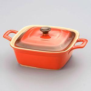 Cacarola-Quadrada-Em-Ceramica-Laranja-28-Cm-2827