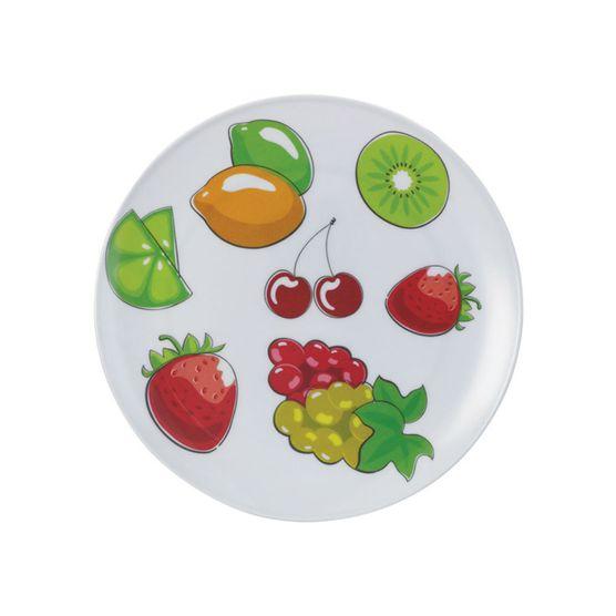 Prato-Raso-Redondo-em-Melamina-Com-Frutas-20-Cm