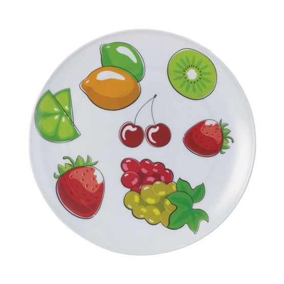 Prato-Raso-Redondo-em-Melamina-Com-Frutas-25-Cm