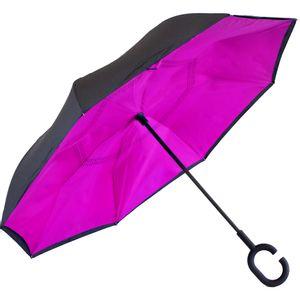 Guarda-Chuva-Invertido-Pink-e-Preto