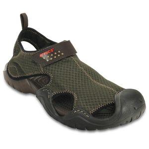 Sandalia-Crocs-Swiftwater-Masculino-15041-Marrom
