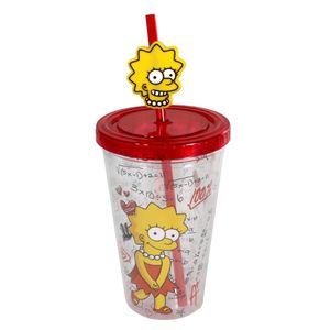 Copo-Com-Canudo-E-Pingente-Lisa-Simpsons-500-ML02