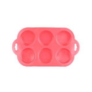 Forma-Para-6-Cupcakes-Em-Silicone-Vermelha