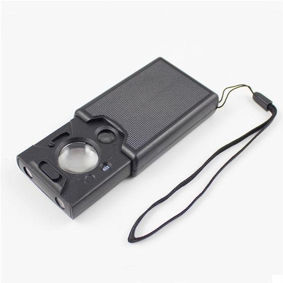 b296b87101325 Lupa Portátil Aumento 60x, 45x e 30x com Identificador de Nota Falsa ...