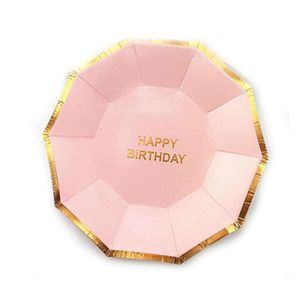 Prato-De-Papel-Happy-Birthday-Rosa-Bebe-10-Unidades