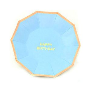 Prato-De-Papel-Happy-Birthday-Azul-Bebe-10-Unidades