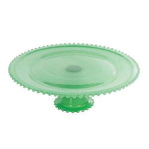 Boleira-De-Vidro-Com-Pe-32-Cm-Verde