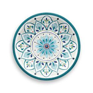Prato-De-Sobremesa-Redondo-em-Melamina-Marrocos-22-cm