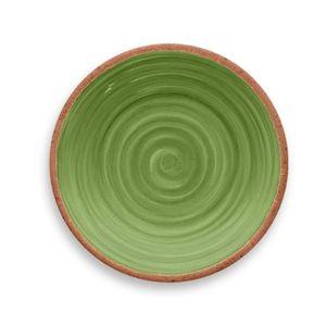 Prato-de-Sobremesa-Rustico-Redondo-em-Melamina-22-cm-Verde