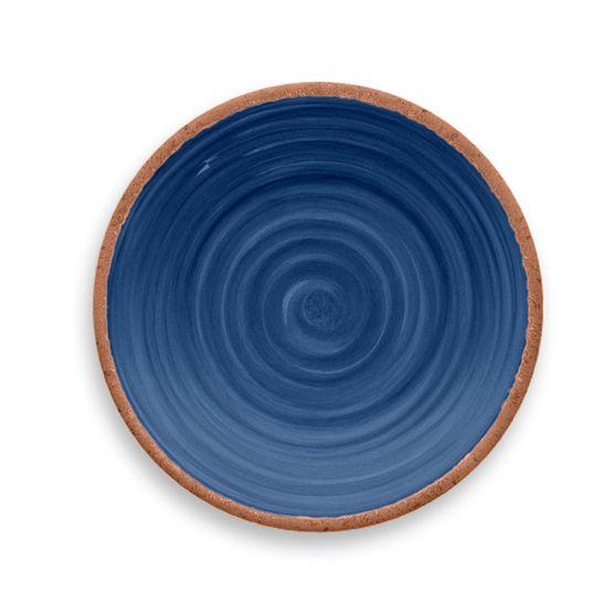 Prato-de-Sobremesa-Rustico-Redondo-em-Melamina-22-cm-Azul-