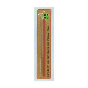 Canudo-Ecologico-e-Reutilizavel-Em-Inox-com-Escova-20-cm-Vermelho
