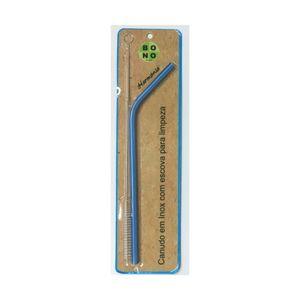 Canudo-Curvo-Ecologico-e-Reutilizavel-Em-Inox-com-Escova-20-cm-Azul-