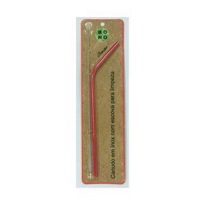 Canudo-Curvo-Ecologico-e-Reutilizavel-Em-Inox-com-Escova-20-cm-Vermelho