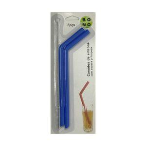 Kit-Com-2-Canudos-Ecologicos-e-Reutilizaveis-De-Silicone-com-Escova-Azul
