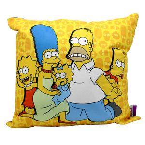 Almofada-Aveludada-Familia-Simpsons-40-x-40-Cm-Fundo-Azul