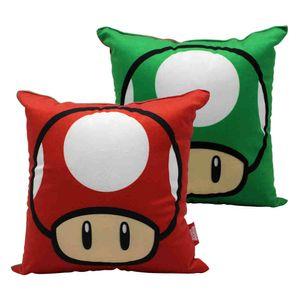 Almofada-Aveludada-Cogumelo-Do-Game-Mario-25-x-25-Cm