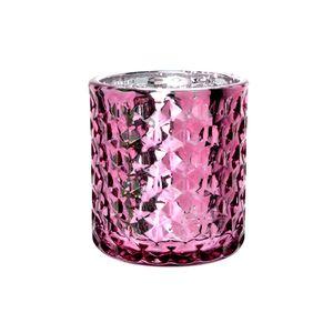Porta-Vela-Diamond-em-Vidro-LHermitage-Metlico-Rosa