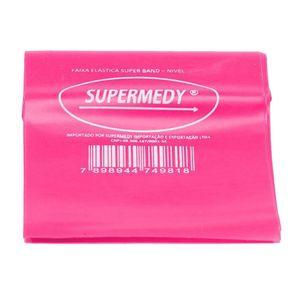 Faixa-Elastica-Superband-Rosa-Medio-120-x-15-cm-Supermedy