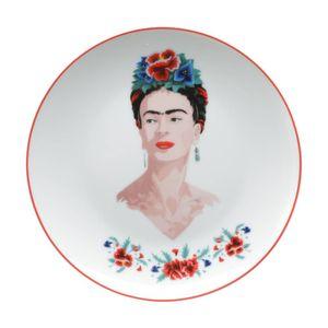 Jogo-2-Pratos-Porcelana-Sobremesa-Frida-Kahlo-Body-and-Flowers-Branco-192-x-2-cm_A