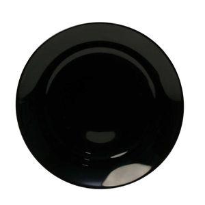 Prato-Para-Sobremesa-De-Vidro-Temperado-Alexie-Black-25-Cm