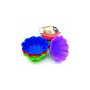 Jogo-De-6-Forminhas-Coloridas-Para-Cupcake-Flor-Em-Silicone