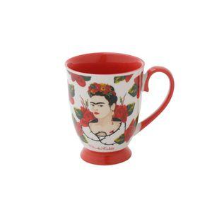 Caneca-em-Porcelana-Rococo-Frida-Kahlo-Face-With-Roses-Branco-e-Vermelho-350-Ml_A
