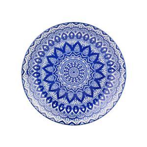 Prato-Para-Sobremesa-De-Ceramica-Mandala-Azul-E-Branco-19-Cm_B